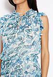 Женская блуза шифоновая голубая Mango, фото 3
