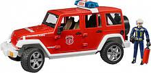 Bruder Игрушка машинка джип Пожарный Wrangler Unlimited Rubicon + фигурка пожарник, 02528