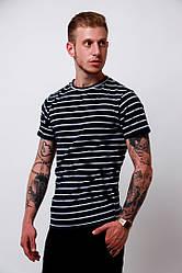 Мужская стильная футболка в полоску