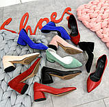 7 расцветок! Стильные женские туфли на каблуке, фото 4