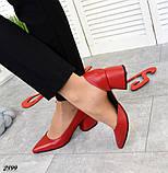 7 расцветок! Стильные женские туфли на каблуке, фото 5