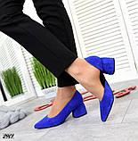 7 расцветок! Стильные женские туфли на каблуке, фото 8