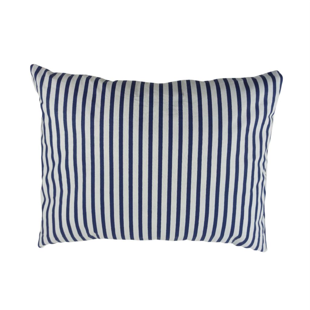 Подушка, 45*35 см, (хлопок), (полоски синие)