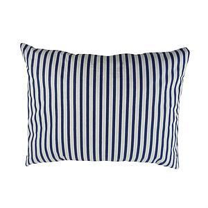 Подушка, 45*35 см, (бавовна), (смужки сині)