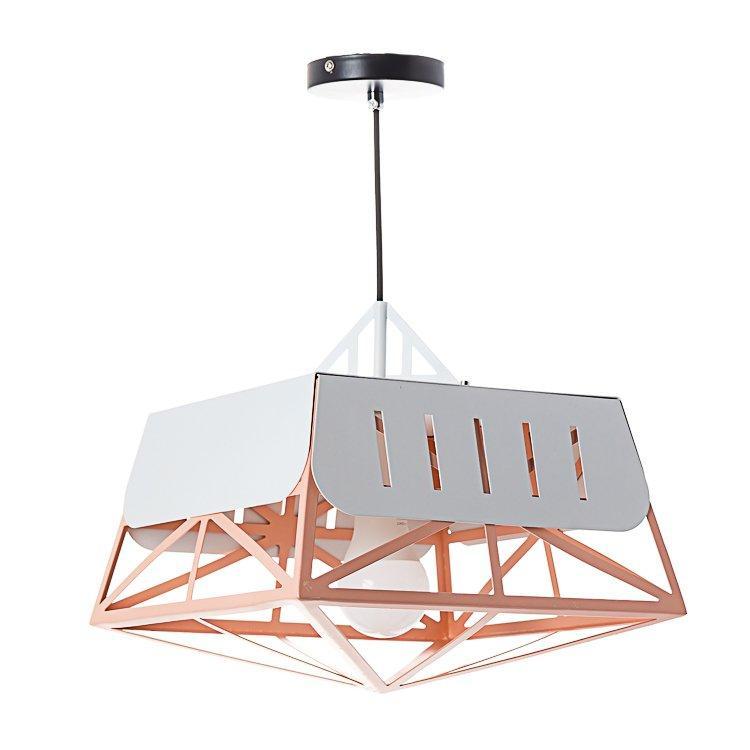 Люстра з геометричними конструкціями SLAVIA NI005/peachy