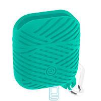Футляр для навушників Airpod Braids бірюзовий