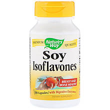 """Соевые изофлавоны Nature's Way """"Soy Isoflavones"""" с пищеварительными ферментами, 1000 мг (100 капсул)"""