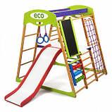 Детский спортивный комплекс для дома деревянный с горкой и кольцами. Карамелька Plus 3, фото 3