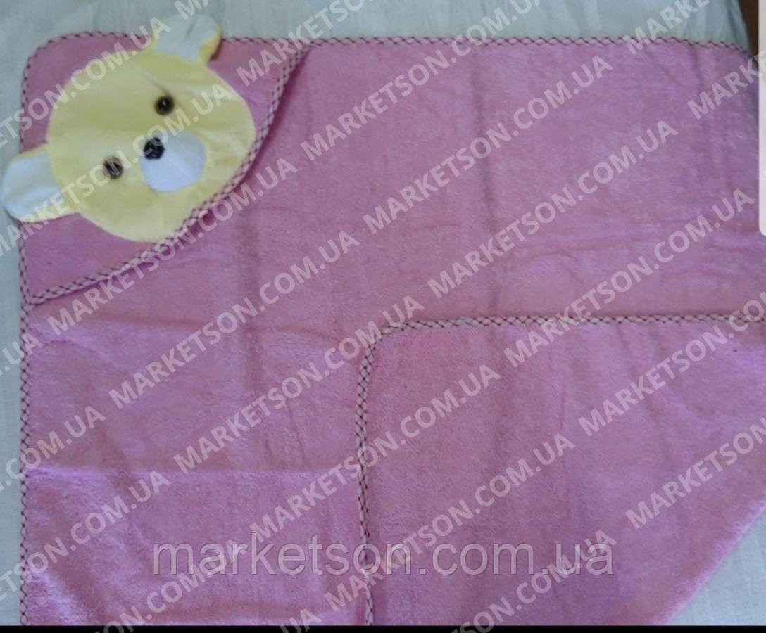 Махровий рушник з куточком Мишко для купання