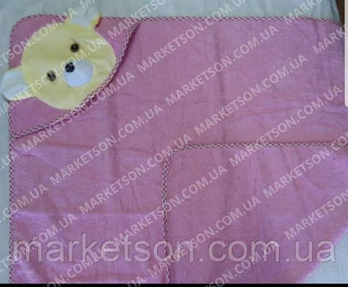Махровий рушник з куточком Мишко для купання, фото 2