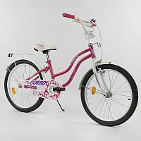 """Велосипед 20"""" дюймов 2-х колёсный """"CORSO"""" Т-08209 (1) РОЗОВЫЙ, ручной тормоз, звоночек, СОБРАННЫЙ НА 75%"""