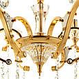 Люстра класична з прозорим декором SLAVIA OU016/6/gold, фото 3