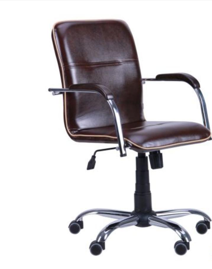 Кресло компьютерное Самба-RC Хром орех Мадрас дарк браун с кантом