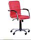 Кресло компьютерное Самба-RC Хром орех Мадрас дарк браун с кантом, фото 4