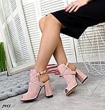 Эффектные женские босоножки на каблуке, фото 2