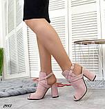 Эффектные женские босоножки на каблуке, фото 4