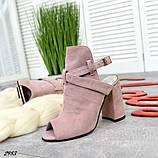 Эффектные женские босоножки на каблуке, фото 5