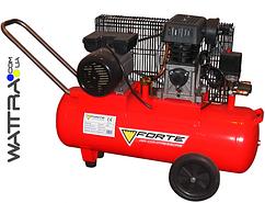 ⭐ Компрессор поршневой FORTE ZA 65-100 - 8 атм. 2,2 кВт, вход: 335 л/мин, ресивер 100 л.
