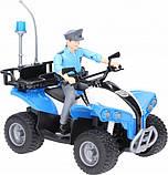 Bruder Игрушка полицейский квадроцикл + фигурка мужчина-полисмен, 63010, фото 2