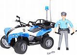 Bruder Игрушка полицейский квадроцикл + фигурка мужчина-полисмен, 63010, фото 3