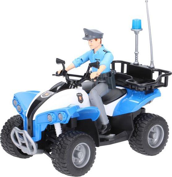 Bruder Игрушка полицейский квадроцикл + фигурка мужчина-полисмен, 63010