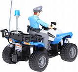 Bruder Игрушка полицейский квадроцикл + фигурка мужчина-полисмен, 63010, фото 4