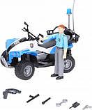 Bruder Игрушка полицейский квадроцикл + фигурка мужчина-полисмен, 63010, фото 5