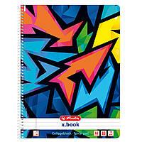 Блокнот Herlitz А4 80арк лін Neon Art