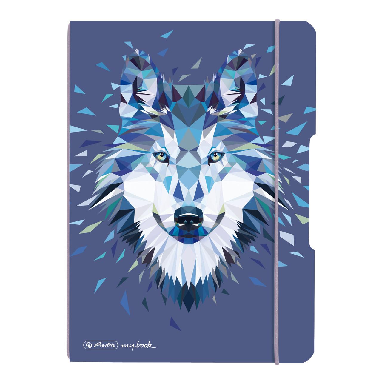 Блокнот Herlitz My.Book Flex А5 40арк крап. Wild Animals Вовк