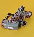 Акумуляторний налобний ліхтар BL-002M-T6, фото 4