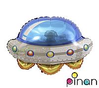 Фольгированный шар 24 Pinan Летающая тарелка в упаковке, 60 см