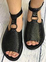 Кожаные босоножки на подошве 1.5 см, кожа или замша размеры 36-41, фото 3