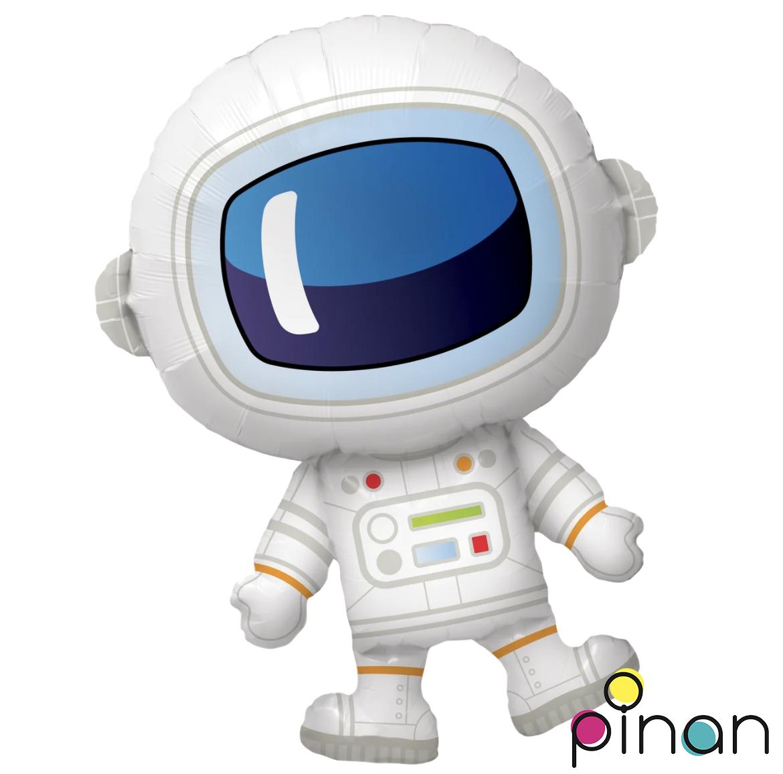 Фольгированный шар 30' Pinan Космонавт в упаковке, 76 см