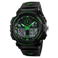 Skmei 1270 зеленые мужские спортивные часы