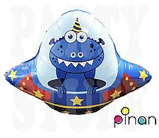 Фольгированный шар 35' Pinan Космос Летающая тарелка, 88 см