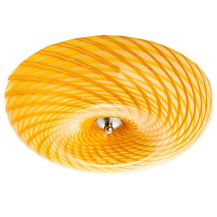 Світильник стельовий помаранчевий круглої форми SLAVIA VL015/1