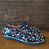 Туфли женские на низком ходу со шнурками черные, фото 6