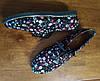 Туфли женские на низком ходу со шнурками черные, фото 5