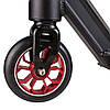 Самокат трюковой , колеса PU,алюм, 110мм, черный., фото 4