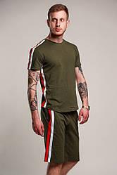 Мужской модный комплект:футболка и шорты