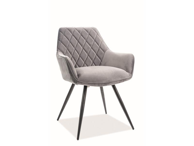 Кресло LINEA VELVET серый (Signal)