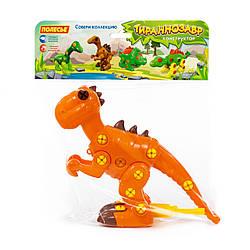 """Конструктор-динозавр """"Тиранозавр"""" (40 елементів) (в пакеті)"""