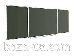 Доска для мела ABC (100х300) в алюминиевой рамке, трехсекционная [abc_821030], фото 2