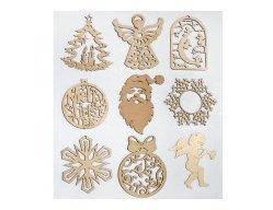 Игрушки новогодние деревянные (ассорти) (5), фото 2