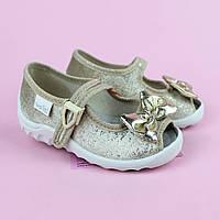 Текстильные детские велюровые туфли тапочки Катя тм Waldi размер 23,27