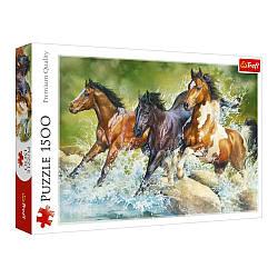"Пазли - (1500 елм.) - ""Три диких коня""/Trefl"