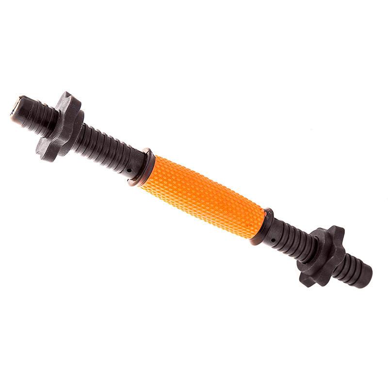 Гриф гантельный, пластик, 46см, обрезиненный, оранж.