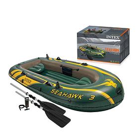 Надувная лодка Intex 68380 Seahawk 3 Set 295х137х43 см