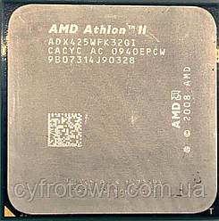 Процессор AMD Athlon II X3 425, 2,7ГГц, sAM3, Tray ADX425WFK32GI б/у