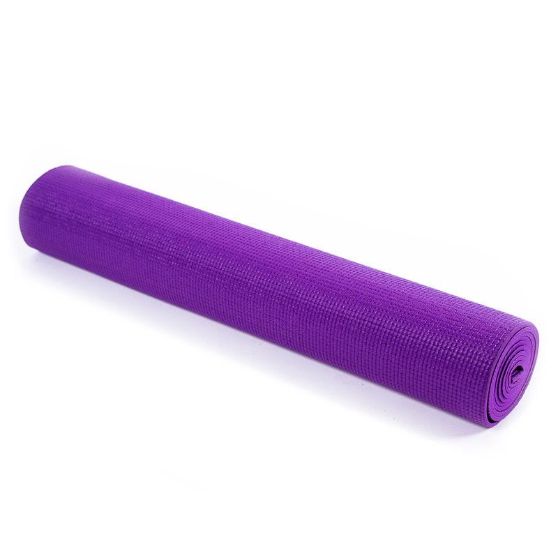 Йогамат, коврик для фитнеса, GreenCamp, 5мм, PVC, фиолетовый.